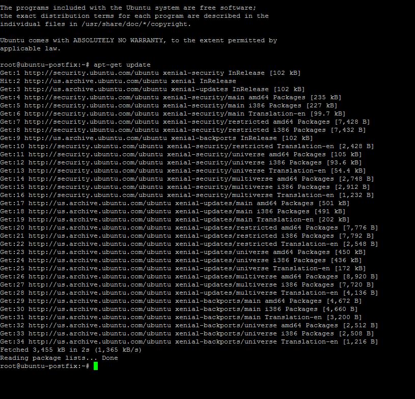Обновление информации APT ubuntu