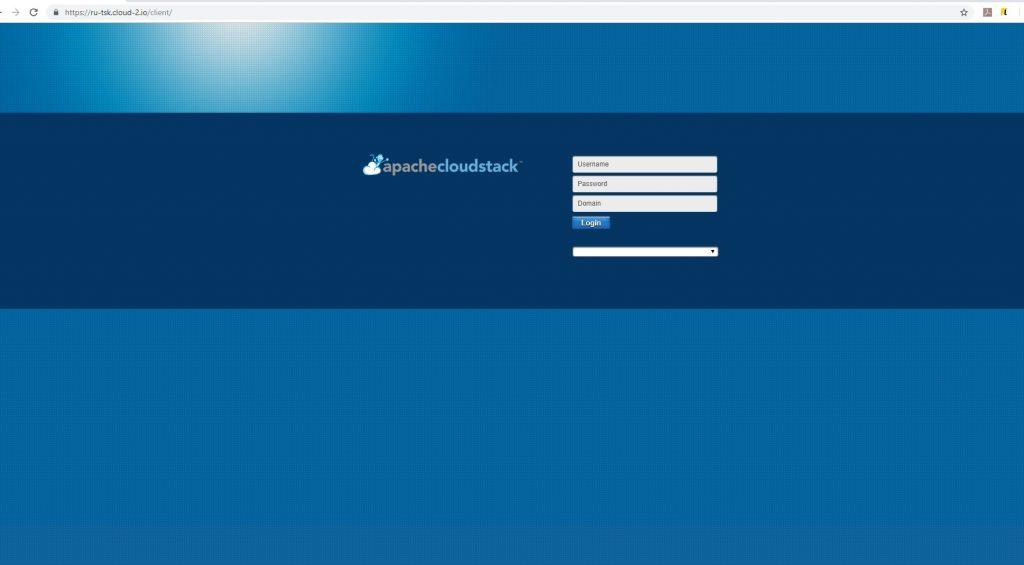 Главная страница панели управления виртуализацией